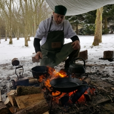 campfire cooking in Leicestershire