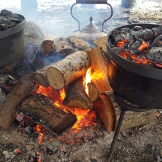 Making Bread in the woodland