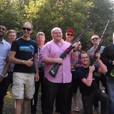 pump action clay shooting experience leicestershire