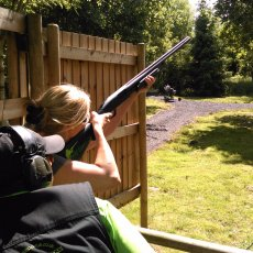 pump action clay shooting experience derbyshire