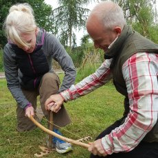 bow drill, learn how to light a fire experience